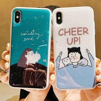 2019新作スマホケース iPhoneXs iPhoneX iPhone XR iPhoneXs MAXケース 全機種対応スマホケース可愛いカップルiPhoneケースKJS0190