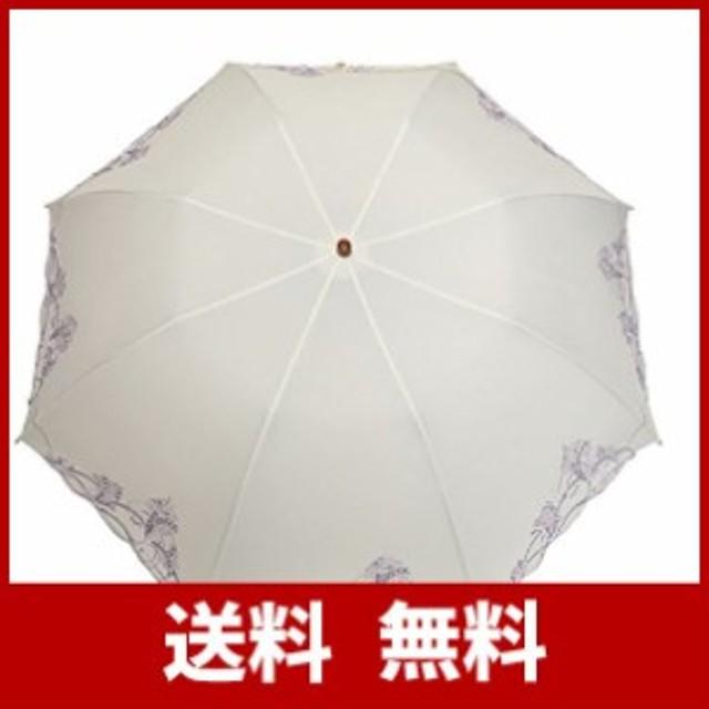 日傘 女優日傘 ワイドショート 完全遮光 遮熱 UVカット かわず張り 涼しい 晴雨兼用傘 特殊2重張り 幾何柄 刺繍