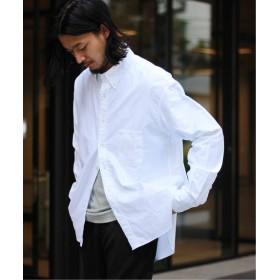 ジャーナルスタンダード 《予約 》H.UNIT / エイチユニット : ホワイトオックスフォードボタンダウンシャツ メンズ ホワイト 2 【JOURNAL STANDARD】