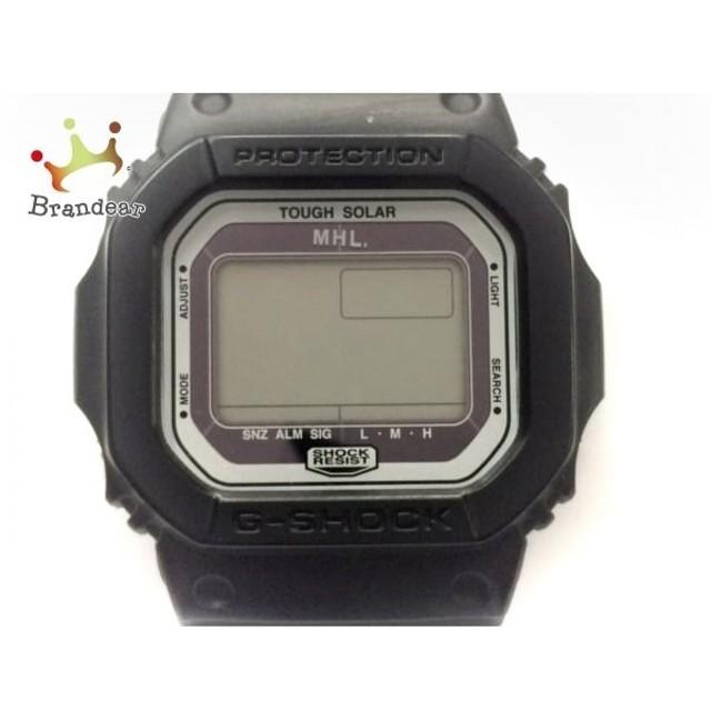 factory authentic f8354 7c1e4 マーガレットハウエル MHL. 腕時計 美品 G-5600 メンズ ラバー ...