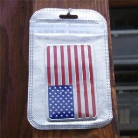 USA 星条旗 アルミ ステッカー USA アメリカ国旗 シール アメリカ アメリカン雑貨 アメリカ雑貨 アメ雑