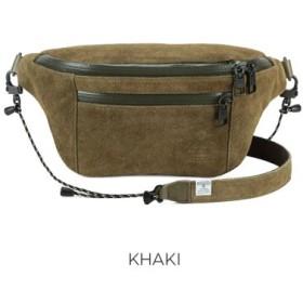 (Bag & Luggage SELECTION/カバンのセレクション)アッソブ ウエストバッグ ファニーパック メンズ レディース ブランド スエード AS2OV WATER PROOF SUEDE 091752/ユニセックス カーキ