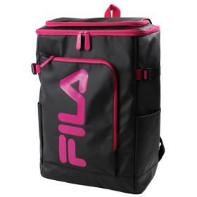 カバンのセレクション フィラ FILA リュック レディース メンズ スクエア 30L 通学 大容量 おしゃれ 女子 ピンク 高校 新作 7577 ユニセックス ブラック系1 フリー 【Bag & Luggage SELECTION】