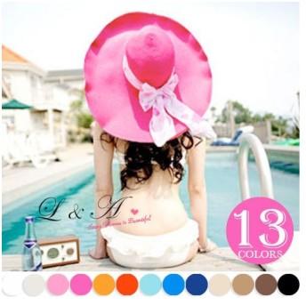 UV 帽子 日よけ つば広帽 麦わら UVカット ストローハット UVハット 紫外線対策 レディース