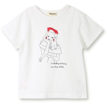 【25%OFF】 ブランシェス 女の子プリント半袖Tシャツ(90~140cm) レディース オフホワイト 100cm 【branshes】 【セール開催中】