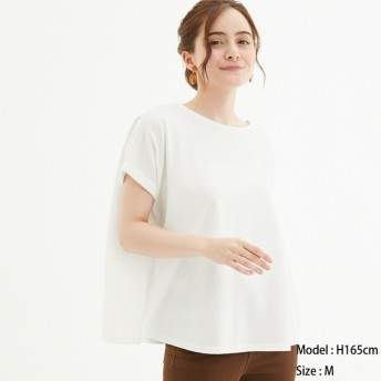 (GU)カノコエアリーT(半袖) OFF WHITE XS
