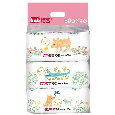培寶超厚柔濕巾80抽4包 溼紙巾 濕紙巾【六甲媽咪】