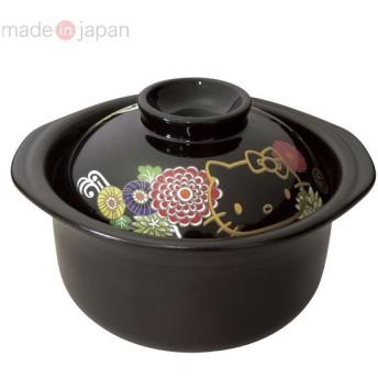 ハローキティ 萬古焼ごはん鍋2合炊き(菊)