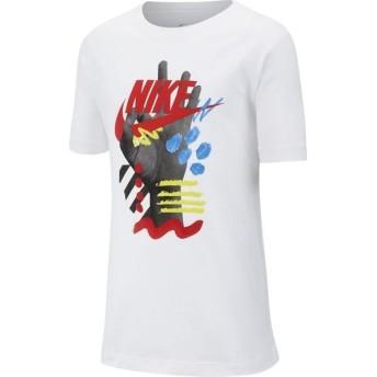[NIKE]ナイキ ジュニアトレーニング YTH FINGERS フューチュラ Tシャツ (CI9606)(100) ホワイト/(ユニバーシティレッド)[取寄商品]