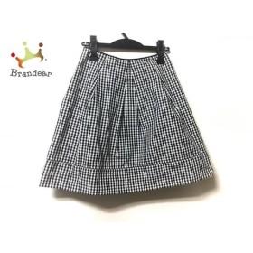 ロイスクレヨン Lois CRAYON スカート サイズM レディース 白×黒 チェック柄   スペシャル特価 20191005