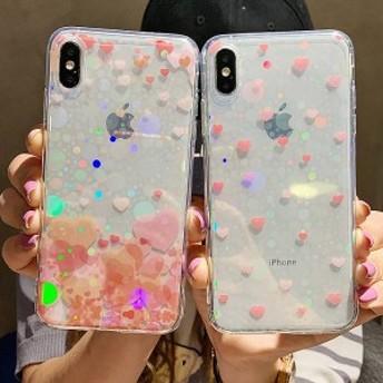 2019新作スマホケース iPhoneXs iPhoneX iPhone XR iPhoneXs MAXケース 全機種対応スマホケース可愛いハートカップルiPhoneケースKJS03