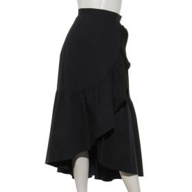 70%OFF Rose Tiara (ローズティアラ) ラップ風フリルタイプライタースカート ブラック