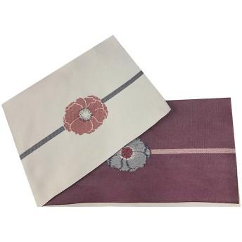 浴衣・着物の帯 - ホンコンマダム 浴衣 レディース 帯 帯締め風牡丹 赤 日本製 オリジナル織り柄 半幅帯 第一会場(d5609) (帯単品)