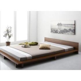 木目 低い ダブル ベッド ベット ブラック 床板仕様 ホワイト シンプル 木製ベッド 低いベッド ローベッド ギュンター 省スペース