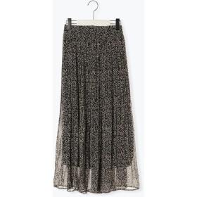 【6,000円(税込)以上のお買物で全国送料無料。】シフォンプリーツスカート