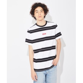 Levi's ベイビータブボーダーTシャツ メンズ オフシロ