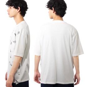 Tシャツ - 8(eight) Tシャツ メンズ 半袖Tシャツ全2色 新作 Tシャツブラック ホワイト 白ビッグシルエット グラフィック M Lアメカジ ストリート海 夏に♪ 8(eight) エイト 8