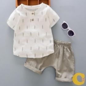 セットアップ キッズ 男の子 ボーイ セット シャツ ズボン 半袖 夏 涼しい レディース シンプル おしゃ