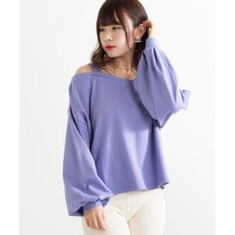 Tシャツ - WEGO【WOMEN】 ワンショルダーボリューム袖ロンT DI19SP02-L006