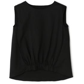 ESTNATION / コットンリネンノースリーブカットソー ブラック/38(エストネーション)◆レディース Tシャツ/カットソー