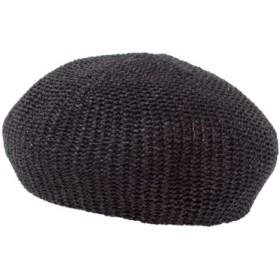 (titivate/ティティベイト)ペーパーベレー帽/レディース ブラック