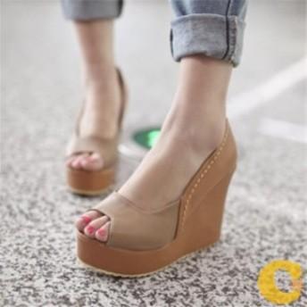 ウェッジソールサンダル レディース シューズ 靴 痛くならない 厚底 大きいサイズ 痛くない ビーチサンダル ハイヒール ウェッジソール