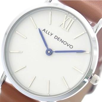 アリーデノヴォ ALLY DENOVO 腕時計 レディース 30mm AS5001-9 MINI NEW VINTAGE クォーツ ホワイト キャメル ホワイト
