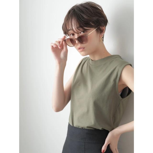 【オンワード】 koe(コエ) ・オーガニックノースリーブベーシックTシャツ Khaki F レディース 【送料無料】