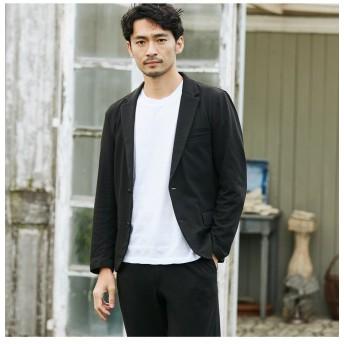 【50%OFF】 メンズビギ ポップコーンジャージジャケット メンズ ブラック M 【Men's Bigi】 【セール開催中】