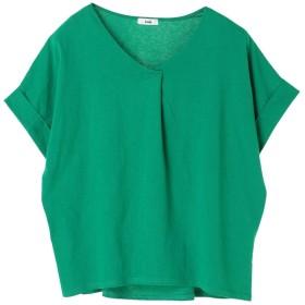 【オンワード】 koe(コエ) スキッパーTシャツ Green F レディース 【送料無料】