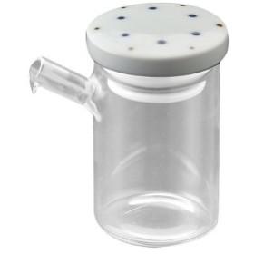醤油さし 液だれしない さび点々 青・大 ガラスのボディ 陶器(波佐見焼)の注ぎ口 クリアポット