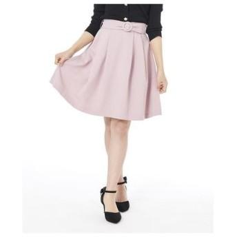 シェリエットバイプライムパターン Cherite by PRIME PATTERN バックルベルト付きスカート (ピンク)