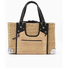 【SALE(伊勢丹)】<carnet/カルネ> Sea Grass Basket Transformed Vest/Large(CE-1810-230) ナチュラル×ブラック 【三越・伊勢丹/公式】