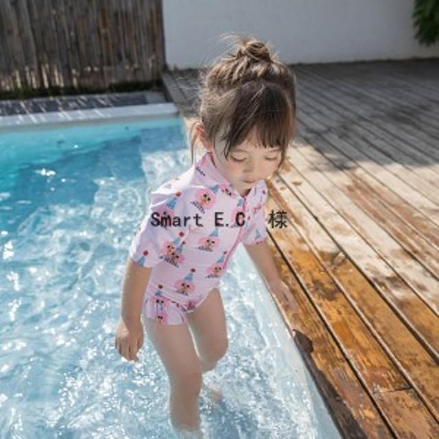 キッズ 水着 女の子 子供用 水着 子供 水着 オールインワン キュート かわいい こども 女児 プール 海 夏 水遊び 温泉 可愛い2色