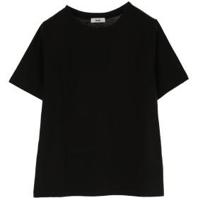 【オンワード】 koe(コエ) OE天竺クルーネックTシャツ Black F レディース 【送料無料】