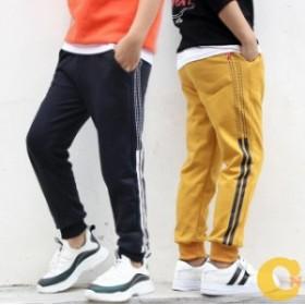 韓国子供服 男女兼用 棉  カジュアルパンツ 秋着 トレーニングパンツ スウェット 長ズボン ロングパンツ 120 130 140 150 160cm
