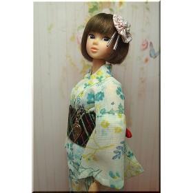 ■momokoドール・小花と小葉の涼感浴衣■