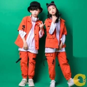 子供 ダンス 衣装 ヒップホップ ダンストップス キッズダンス衣装 ステージ衣装 ジャズダンス ウエア 衣装 練習着 xh085