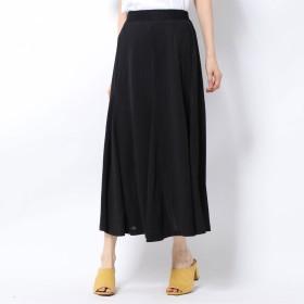 ミーア MIIA ボリュームフレアカットスカート (ブラック)