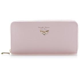 サマンサタバサプチチョイス ドロップビジューモチーフシリーズ(ラウンドジップ長財布) ピンク
