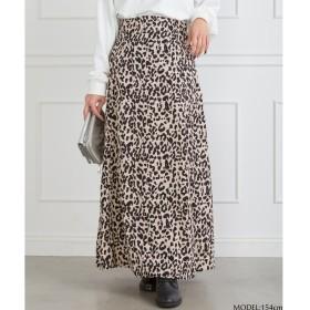 SpRay レオパードロングスカート ベージュ レディース 5,000円(税抜)以上購入で送料無料 ロングスカート 夏 レディースファッション アパレル 通販 大きいサイズ コーデ 安い おしゃれ お洒落 20代 30代 40代 50代 女性 スカート
