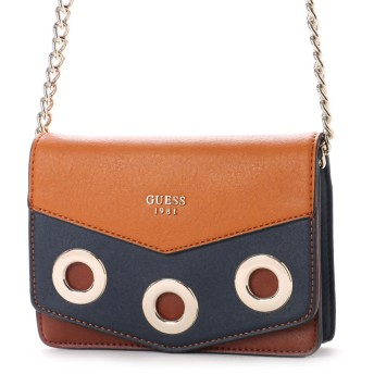 ゲス GUESS DINAH MINI CROSSBODY FLAP (TOPAZ MULTI)