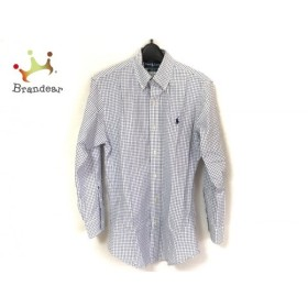 ラルフローレン RalphLauren 長袖シャツ サイズS メンズ 美品 白×黒×ネイビー チェック柄 新着 20190707