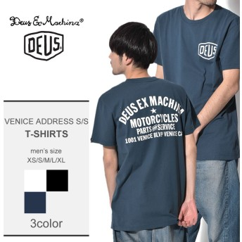 DEUS EX MACHINA 半袖Tシャツ VENICE ADDRESS S/S T-DMW41808C メンズ