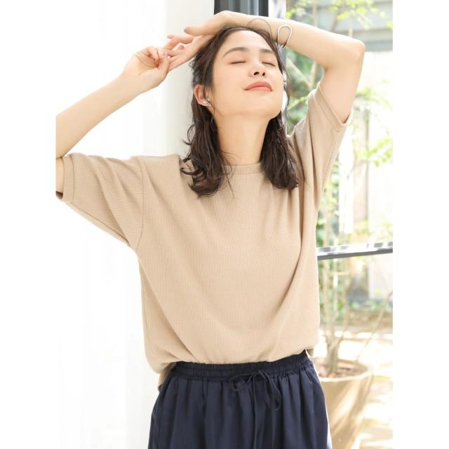 【オンワード】 koe(コエ) ワッフルTシャツ Beige F レディース 【送料無料】