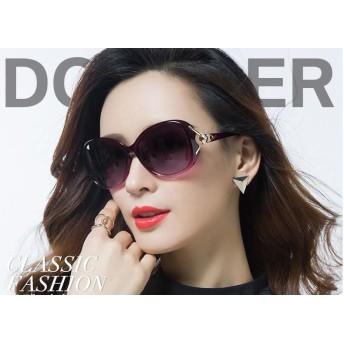 2019新しい偏光サングラスラウンドフェイスレディースサングラス女性の潮の星モデルUVメガネ/紫外線カット UV対策 小顔効果