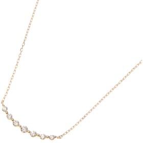 ココシュニック COCOSHNIK K18ダイヤモンド グラデーション7石 ネックレス (イエローゴールド)