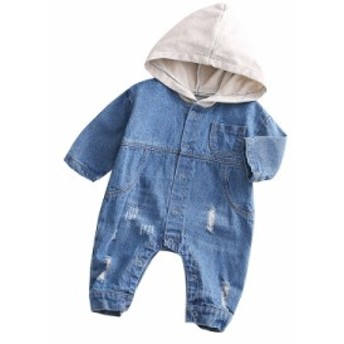 ロンパース セットアップ 子供服 前開き カバーオール オールインワン ベビー服 おしゃれ ロンパース ベビー 男の子 女の子 カバーオール