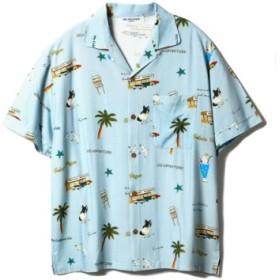 (gelato pique/ジェラートピケ)【GELATOPIQUEHOMME】アロハシャツ/ユニセックス BLU