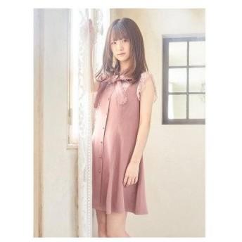 ロジータ ROJITA ボウタイリボン配色レースOP (ピンク)